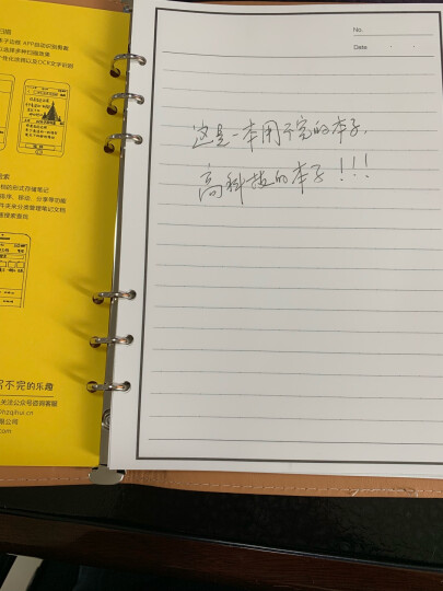 ELFINBOOK 豪华版智能可重复书写App备份笔记本子 年货创意礼品年会商务记事本A5/70页 星光棕 晒单图