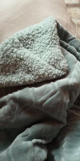 帝菲雅 毛毯双层加厚羊羔绒毯子 休闲办公室午休盖毯被 抹茶绿-升级款 150*200cm蓬松毯【3.5斤】 晒单图