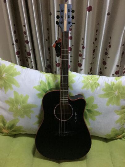 芒果OMUGO吉他云杉面板入门初学40寸41寸民谣木吉它guitar 穿心箭A8C N40寸电箱 晒单图