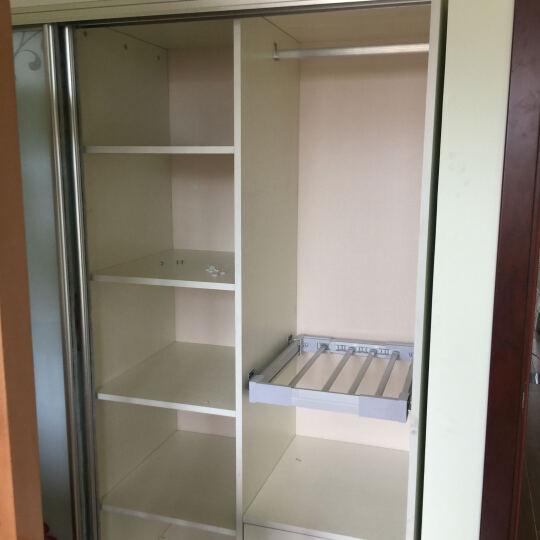 生态板衣柜推拉门整体衣柜钢化玻璃移门储物柜 江南之韵+角柜 布纹门-树脂 晒单图