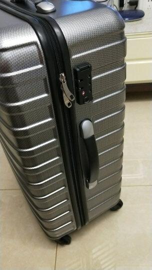 美旅拉杆箱行李箱女学生旅行箱包万向轮密码箱男时尚商务TSA登机箱行旅箱子旅游箱BF9 浅蓝格纹 20英寸(TSA锁,无侧把手) 晒单图