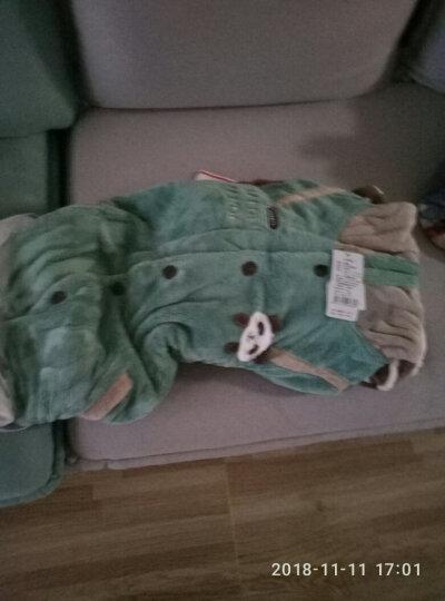 【2件75折】情侣睡衣男女冬家居服可爱熊猫加厚珊瑚绒法兰绒长袖套装 带帽款 男士XL(175/92A)现货 晒单图