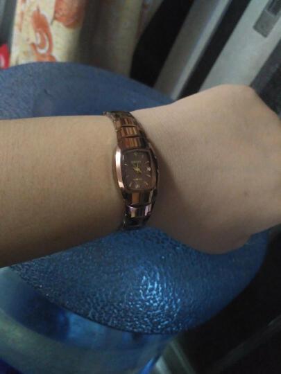 欧顿(OUDUN)手表 女士时尚钨钢石英表酒桶型手链复古女士手表TWN-25 3112玫瑰金色镶钻腕表 晒单图