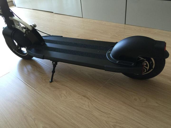 升特shengte电动滑板车 可折叠迷你电动车 成人锂电便携城市代步车代驾车 10.4AH 续航25-35km  炫酷黑 晒单图
