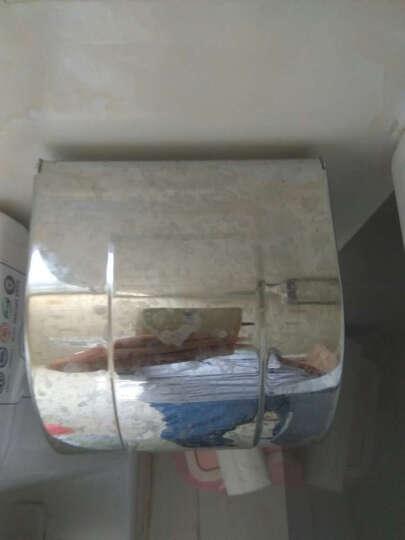 盾盛 K8系列圆形不锈钢厕纸盒纸巾盒 防水免打孔 通用卷纸盒厕纸盒 盾盛 13cm 亮光(304加厚) 晒单图