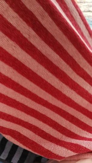孚日洁玉纯棉枕头巾一对 长尾兔情侣条纹枕巾2条装 50*75cm  红+兰 晒单图