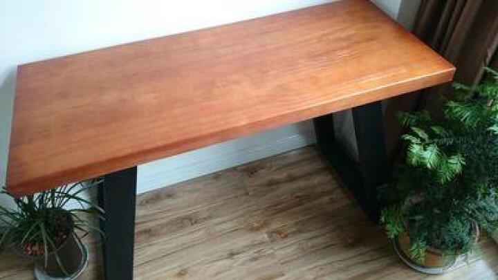小铁匠 实木办公桌家用电脑桌书桌写字桌酒吧咖啡厅特色职场会议桌泡茶桌工作台可定制 其他颜色尺寸专拍 晒单图