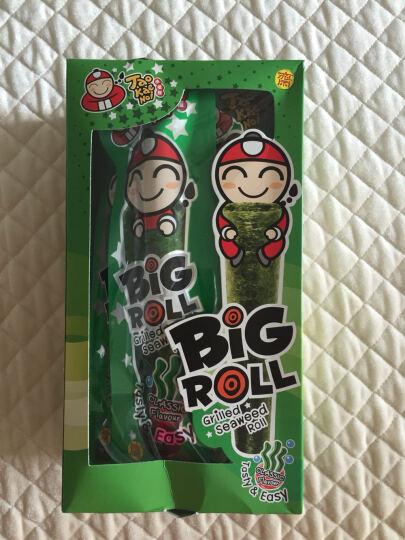 泰国进口 休闲零食 小老板 Bigbang超大片烤海苔 脆紫菜 墨鱼味 54g/袋(新老包装随机发货) 晒单图
