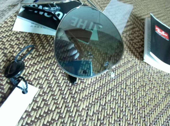 RayBan 雷朋太阳镜男女款蛤蟆镜酷炫潮流彩膜反光镜面RB3025可定制 003/40银色镜框银色反光镜片 尺寸62 晒单图