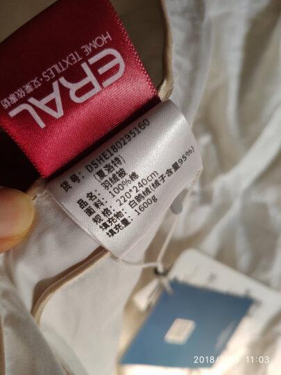 ERAL/艾莱依家纺 95%白鹅绒被芯 全棉80支贡缎羽绒被 单双人加厚保暖冬被被子 春秋被 加厚冬被-玫瑰粉色 150*210cm 晒单图