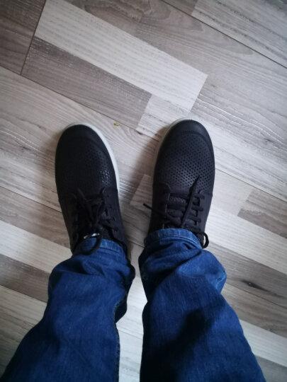 ECCO爱步透气休闲鞋户外运动鞋青年时尚男鞋 转变534804 牛仔蓝53480402086 43 晒单图