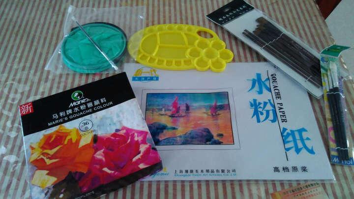 24色水粉颜料套装水粉画纸画笔调色盘盒工具套装 12色套装 12ml 支