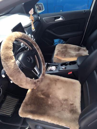 乔帮主 纯羊毛汽车坐垫 冬季短毛绒座垫单片方垫三件套沙发通用澳洲进口皮毛一体 YMD-22炭灰色-三件套 晒单图