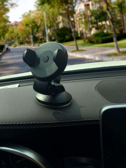 轩之梦 汽车手机支架吸盘车载手机支架多功能汽车用手机座GPS导航仪手机架夹 绿色 晒单图