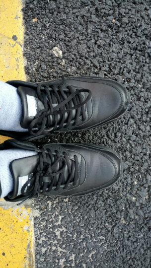 八哥运动鞋男鞋跑步鞋男减震气垫夏女慢跑鞋子旅游鞋休闲鞋小黑鞋春夏季 黑色 42 晒单图