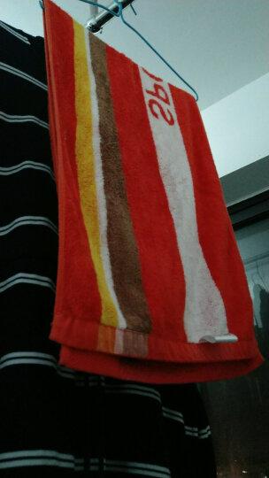 竹之锦 毛巾家纺 竹纤维色织条纹动感时尚运动毛巾 吸汗运动巾 蓝色  34×110cm 晒单图