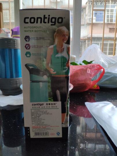 contigo单层运动吸管杯夏季户外运动塑料水杯750ML 天蓝色HBC-ADN027 晒单图