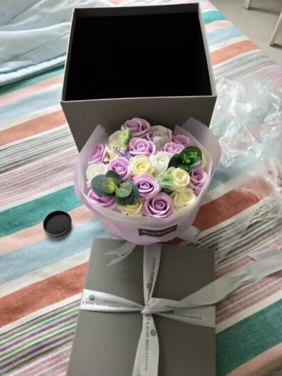 I'M HUA HUA 21朵紫色玫瑰花香皂花礼盒花束保鲜花速递同城花束三八妇女节女神节礼物纪念日花束送女生送女友 晒单图