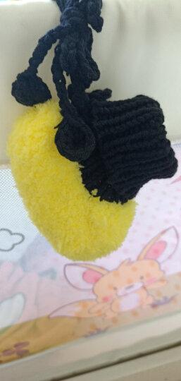 Yamilan 婴儿手工编织鞋 冬季加厚保暖 宝宝毛线鞋袜 可爱地板袜 黄色-毛球款 0-12个月/脚长12.5厘米以内 晒单图