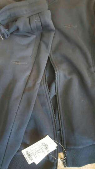 鸿星尔克erke运动套装女时尚针织翻领开衫休闲卫衣百搭修身女长袖外套休闲 藏蓝(外套) M 晒单图