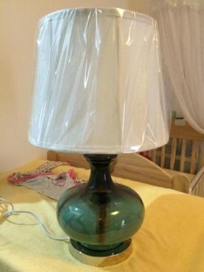 络曼(LUOMAN) 地中海蓝色陶瓷欧式台灯卧室床头灯现代简约田园台灯创意时尚装饰 晒单图