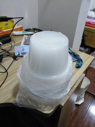笑妈妈 20只装一次性圆形打包盒1000ML带盖家用酒店专用食品打包盒 晒单图