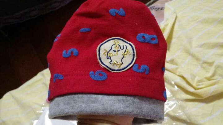 小西家作 婴儿帽子+围巾套装秋冬毛线围脖秋冬 宝宝帽子男女儿童帽子 鸭舌帽小猫咪黄色 晒单图
