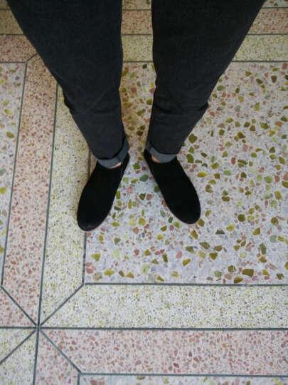 洛巴牛切尔西靴英伦马丁靴大码高帮鞋保暖加绒高邦男鞋中帮男士冬季保暖加绒潮流磨砂翻毛反绒皮鞋 沙色加毛 40 晒单图