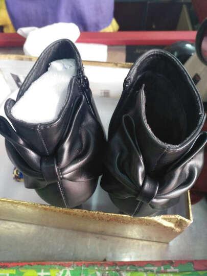 莱卡金顿高跟鞋女2017秋季新款时尚细跟尖头高跟单鞋丁侧拉链水钻女鞋 B258S5红色 37 晒单图