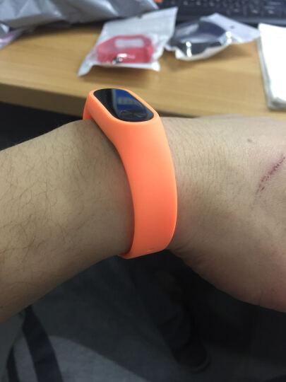 你的菜 小米2代手环腕带 配件替换 腕带 表带 防水硅胶运动表带 智能手环 橙色 晒单图