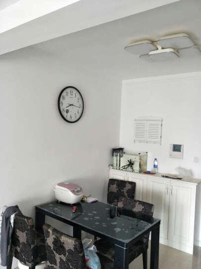 丽声(RHYTHM) 钟表 客厅卧室书房办公室简约挂钟静音创意个性圆形数字挂表石英钟 32cm树脂液晶CFG706NR19 晒单图