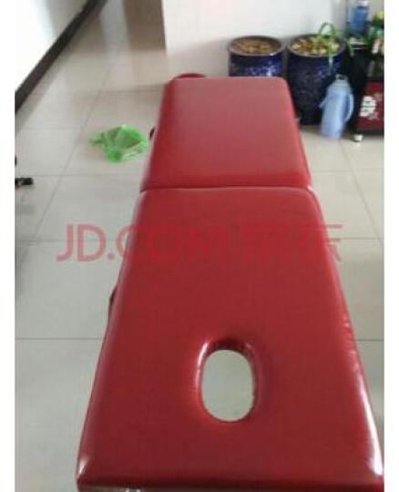 合佳折叠按摩床 折叠美容床 推拿床 美容院美容美体床 深红色 晒单图