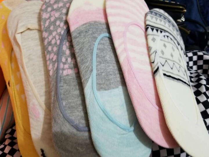 南极人 5双礼盒装60%棉含量袜子女士可爱猫咪卡通舒适耐磨柔软休闲棉袜女 纯色抽条5双装 均码 晒单图