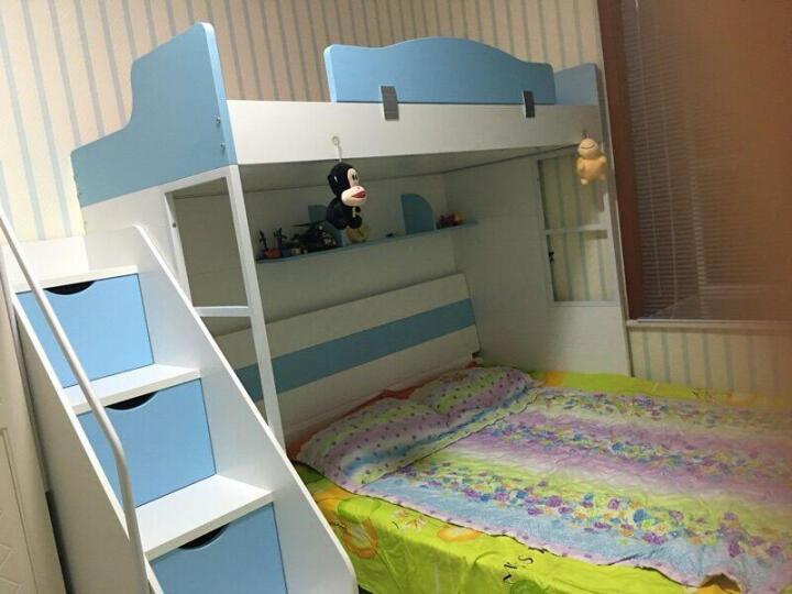 优漫佳 儿童床多功能上下床高低床 环保无油漆 男孩床公主床 上床+衣柜+书桌+梯柜 上铺内径 0.9*1.9M 晒单图