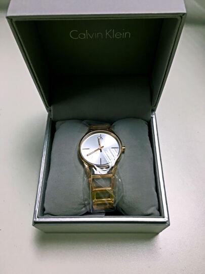 CK卡文克莱(CalvinKlein)手表STATELY系列女表简约时分针玫瑰金材质银盘钢带K3G23626 晒单图