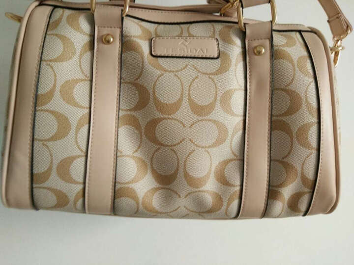 【品牌女包】特斯黛波士顿桶包 枕头包新款包包手提包单肩包斜挎包 香槟金 晒单图