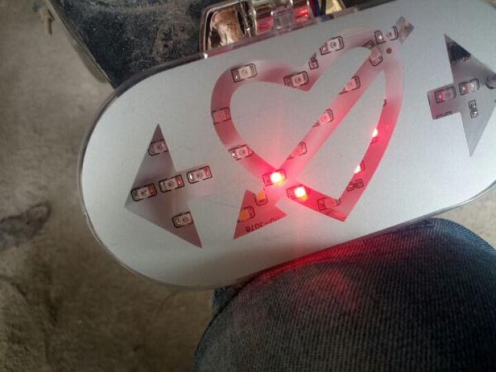 美蒂亚汽车摩托车助力车改装电动车灯装饰灯一箭穿心彩灯 LED汽车尾灯灯爆闪灯刹车灯 转向灯 行车灯 蓝光一个 晒单图