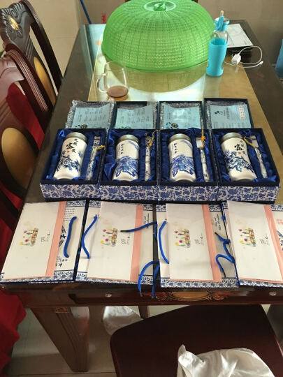 商务年会礼品送客户员工开业会议礼物创意实用公司活动礼品定制logo同学聚会纪念品教师节礼物送男女老师 红盒:蓝色商务七件套装配16GU盘 晒单图