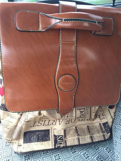 江鑫源 时尚复古拉杆包 男女双肩背包大容量行李箱户外旅行箱 红地图 20英寸 晒单图