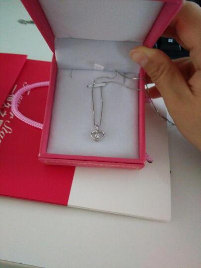 恒久之星珠宝 18K金/铂金钻石吊坠女款白金项链吊坠 求婚结婚订婚钻石项链心形 (现货)18K金18分IJ色 晒单图