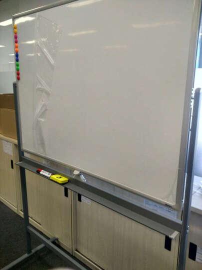 比比牛  白板架90*120cm 办公支架白板双面移动一键翻转灰色 金刚BBNO90120G 晒单图