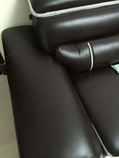 银月亮 沙发真皮沙发客厅简约转角  皮艺沙发组合 枣红色 双人位+单人位+贵妃+茶几+电视柜 晒单图