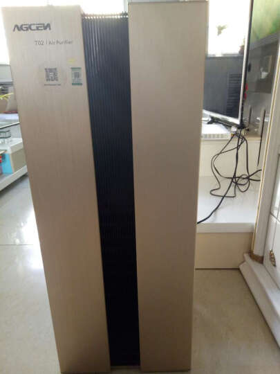 艾吉森(AGCEN) 高端智能wifi远程家用别墅空气净化器T02 除甲醛雾霾烟尘PM2.5负离子 拉丝银 晒单图