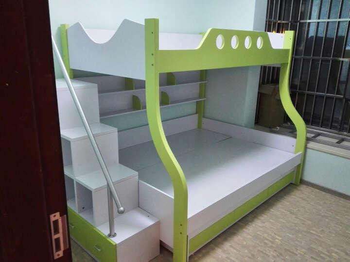奥凡尼双层床高低子母床双层上下床铺公主男孩女孩带护栏家具 带双床垫全套套餐 1.5*1.9米(指定城市0元五包) 晒单图
