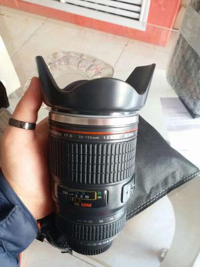 Wrcibor 单反相机镜头造型不锈钢水杯隔热水杯 圣诞节生日礼品创意杯子个性七夕情人礼物 28-135系列防风罩盖-黑色 晒单图