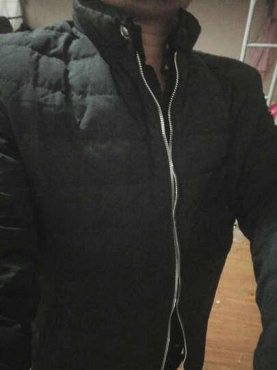 【花花公子贵宾】轻薄羽绒服男2016秋新款时尚纯色短款羽绒外套轻羽绒男新品 黑色 XL 晒单图