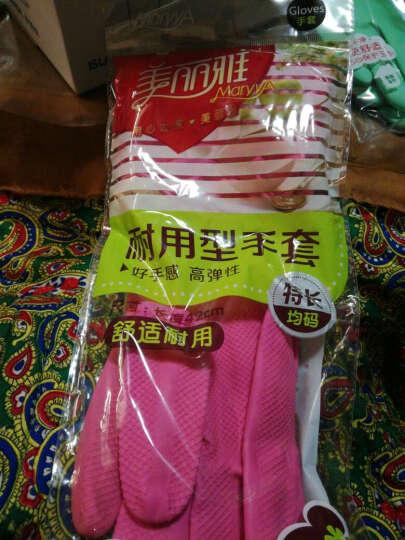 美丽雅 特长耐用型手套 均码 1双装 清洁手套家务手套 HC051782 晒单图