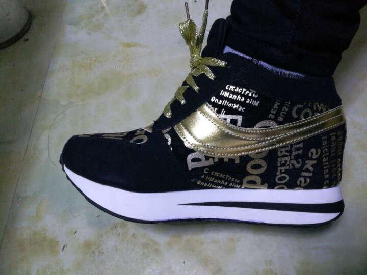 银蝎 隐形内增高休闲鞋女鞋运动鞋单鞋大码鞋40 41 42 特小码33 34 Y-709 银色 34 晒单图