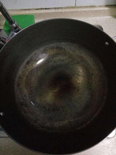 精铸爆炒生铁老式大铁锅铸铁双耳大炒锅传统生铁炒 32cm 晒单图