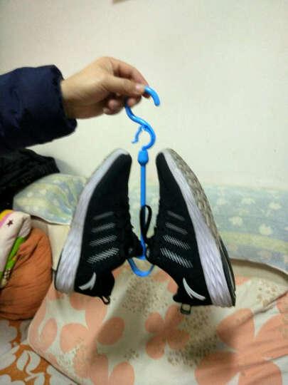 家英 创意可连接挂钩式晒鞋架 凉鞋架 衣架 蓝色 晒单图